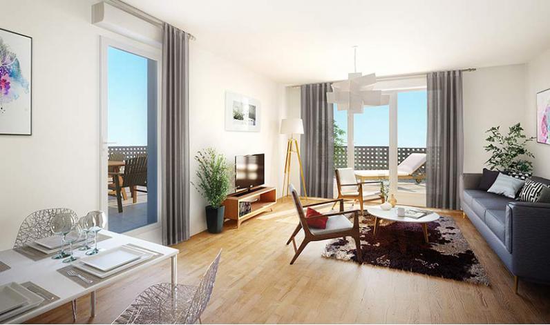 Programme latitude 40 appartement neuf m rignac 33 for Appartement merignac