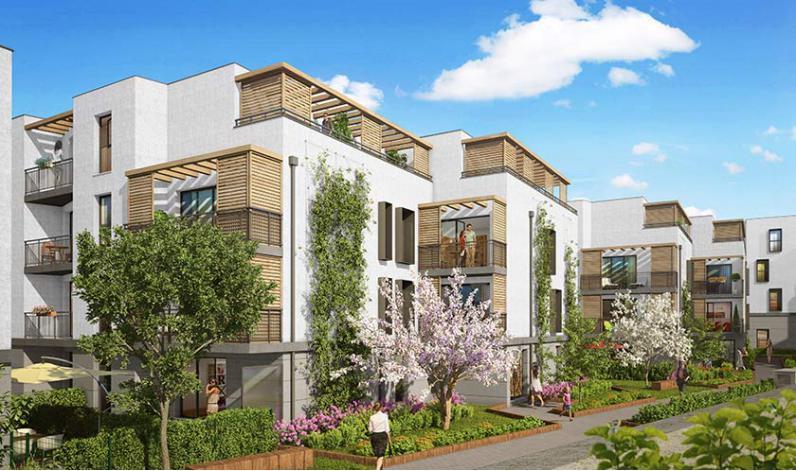 Programme les quatre saisons appartement neuf for Appartement atypique romainville