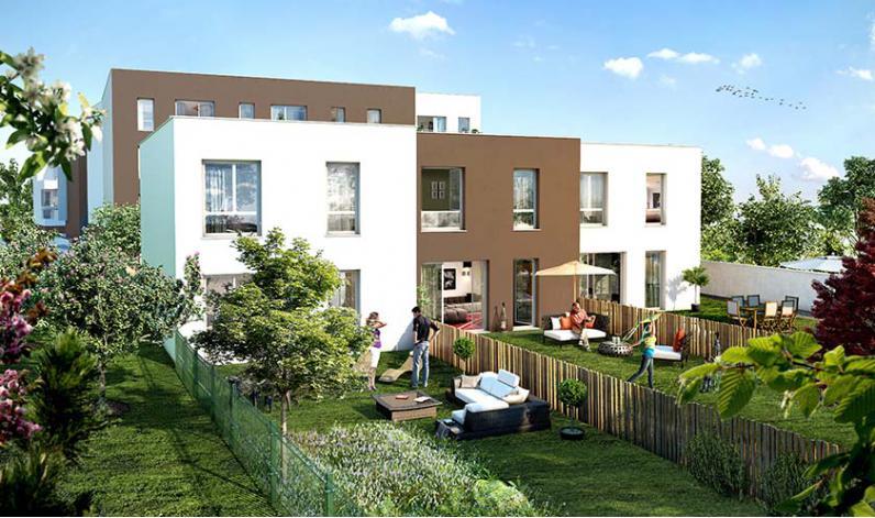Programme un jardin en ville appartement neuf clermont - Maison jardin nantes clermont ferrand ...