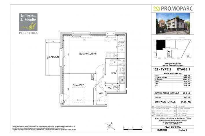 Programme les terrasses du moulin appartement neuf for Plan de moulins