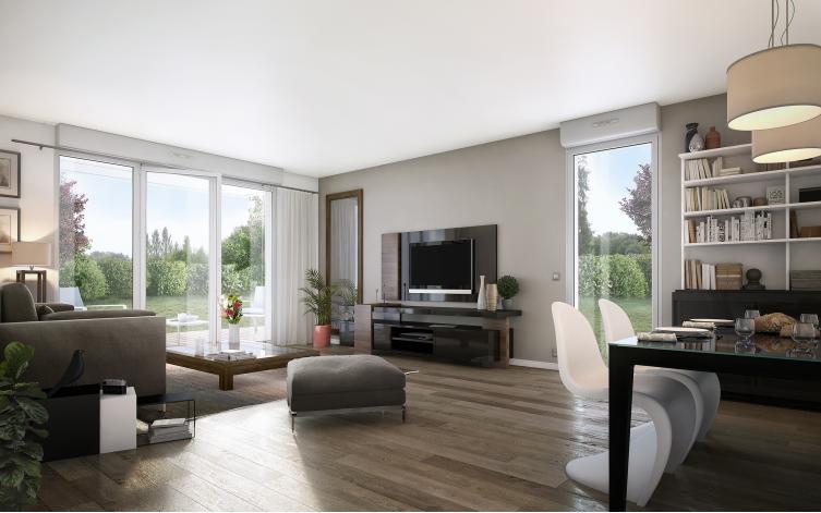 le clos de saint o appartement neuf saint orens de gameville 31. Black Bedroom Furniture Sets. Home Design Ideas