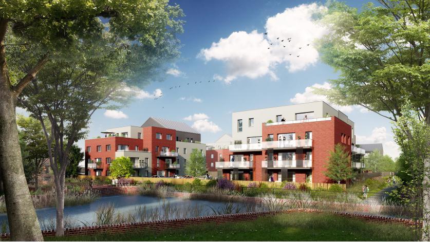 Programme reflets des etangs appartement neuf p renchies for Programme de logement neuf