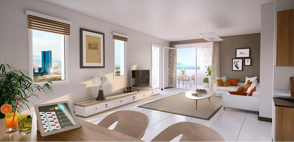 So view appartement neuf eiffage immobilier for Bus salon miramas